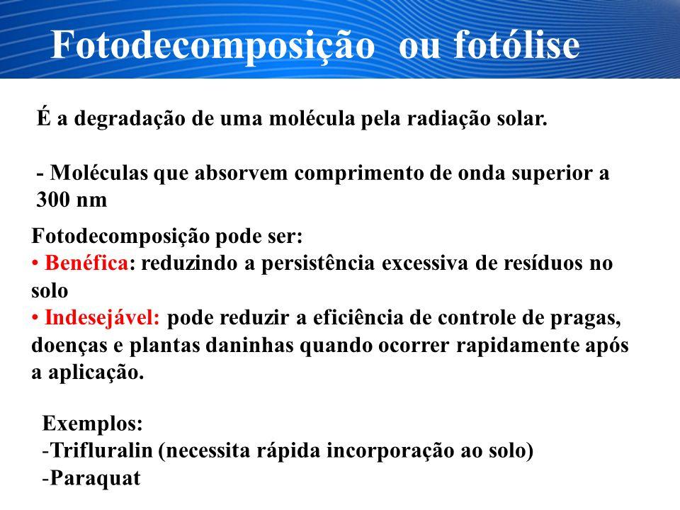 Fotodecomposição ou fotólise
