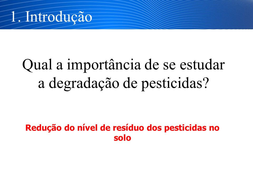 Redução do nível de resíduo dos pesticidas no solo