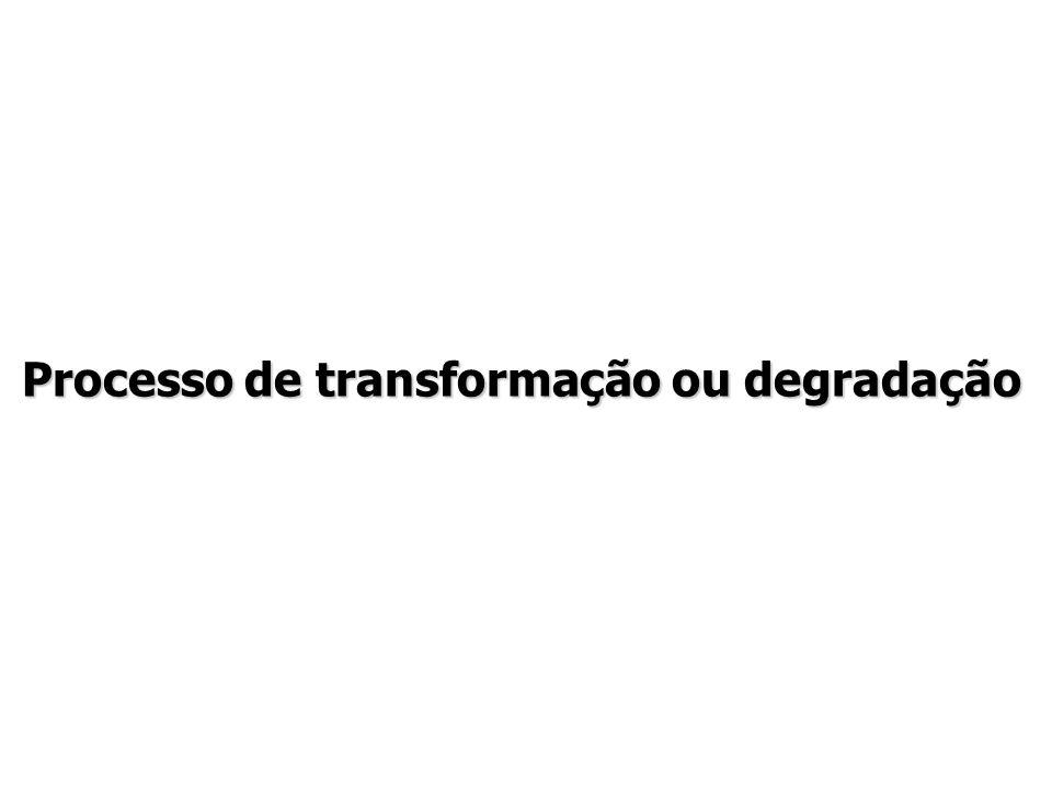 Processo de transformação ou degradação
