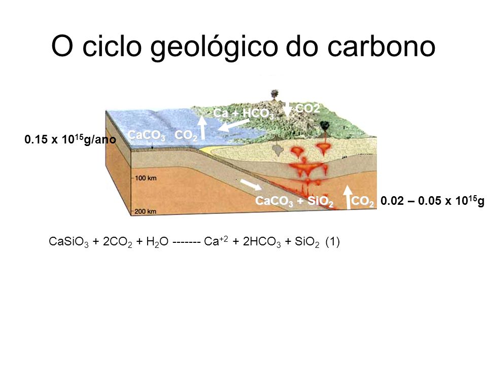 O ciclo geológico do carbono
