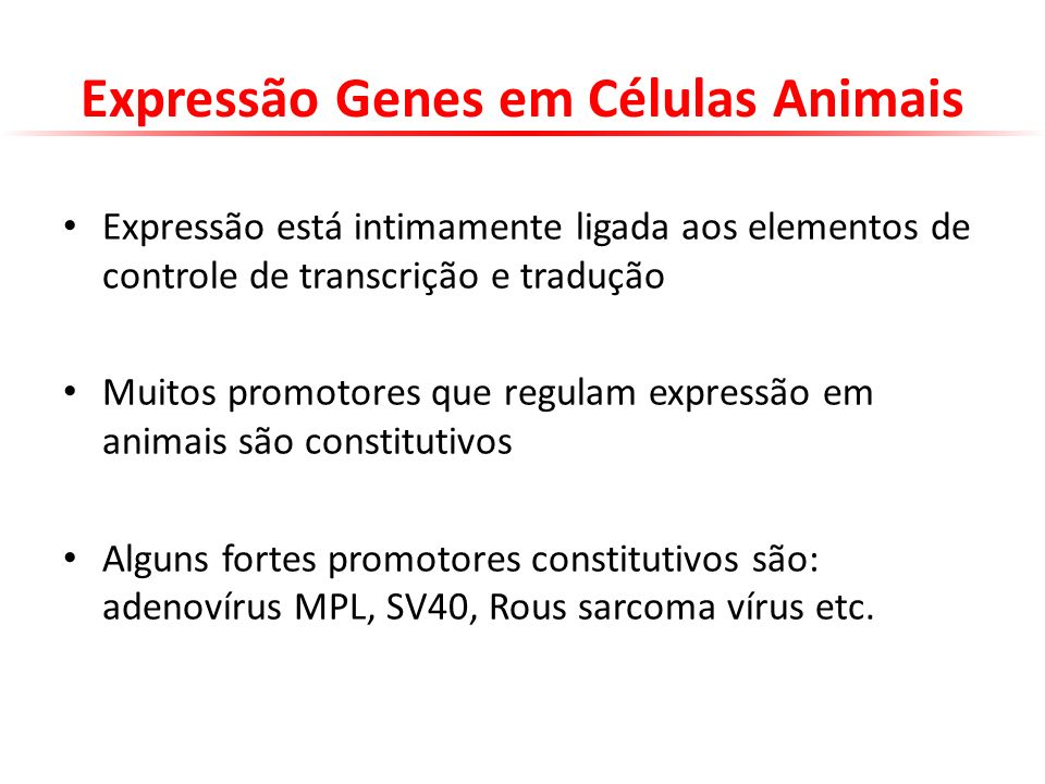 Expressão Genes em Células Animais
