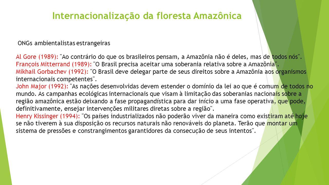 Internacionalização da floresta Amazônica