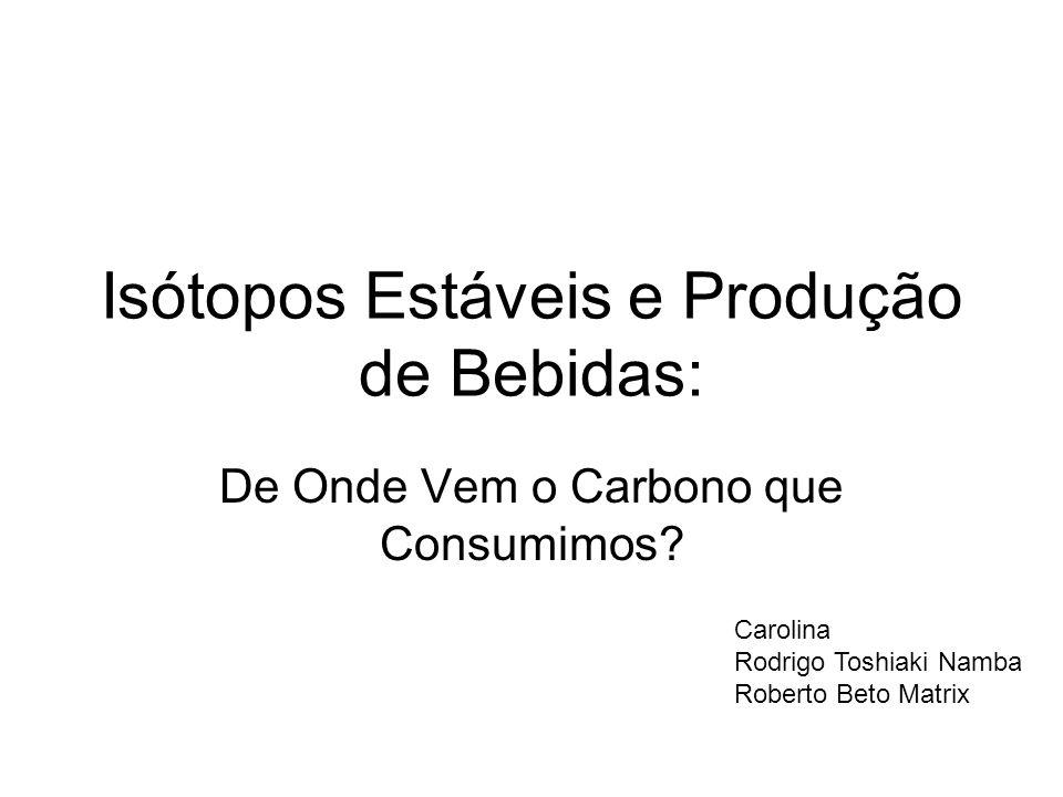 Isótopos Estáveis e Produção de Bebidas: