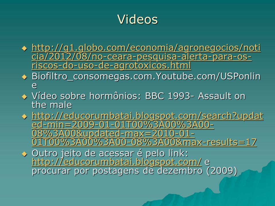 Videos http://g1.globo.com/economia/agronegocios/noticia/2012/08/no-ceara-pesquisa-alerta-para-os-riscos-do-uso-de-agrotoxicos.html