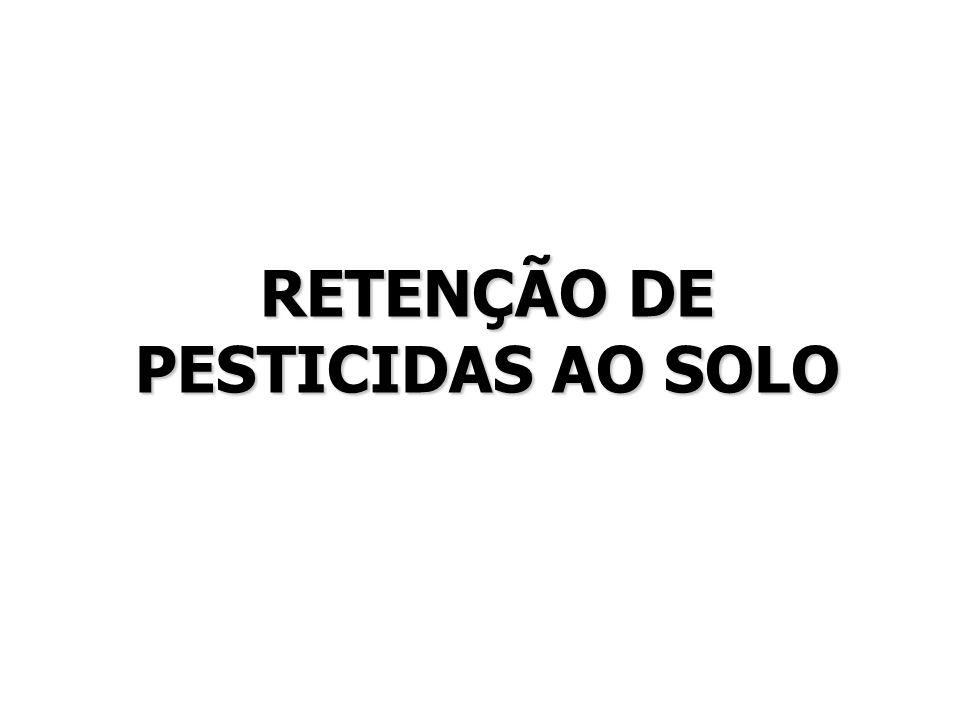 RETENÇÃO DE PESTICIDAS AO SOLO