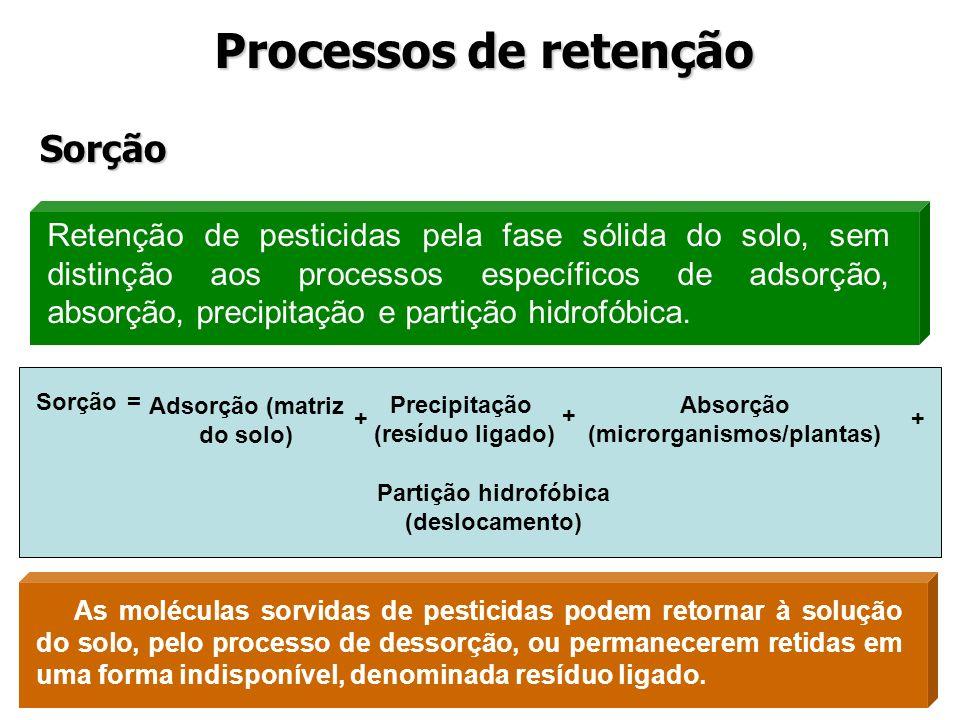 (microrganismos/plantas) Adsorção (matriz do solo)