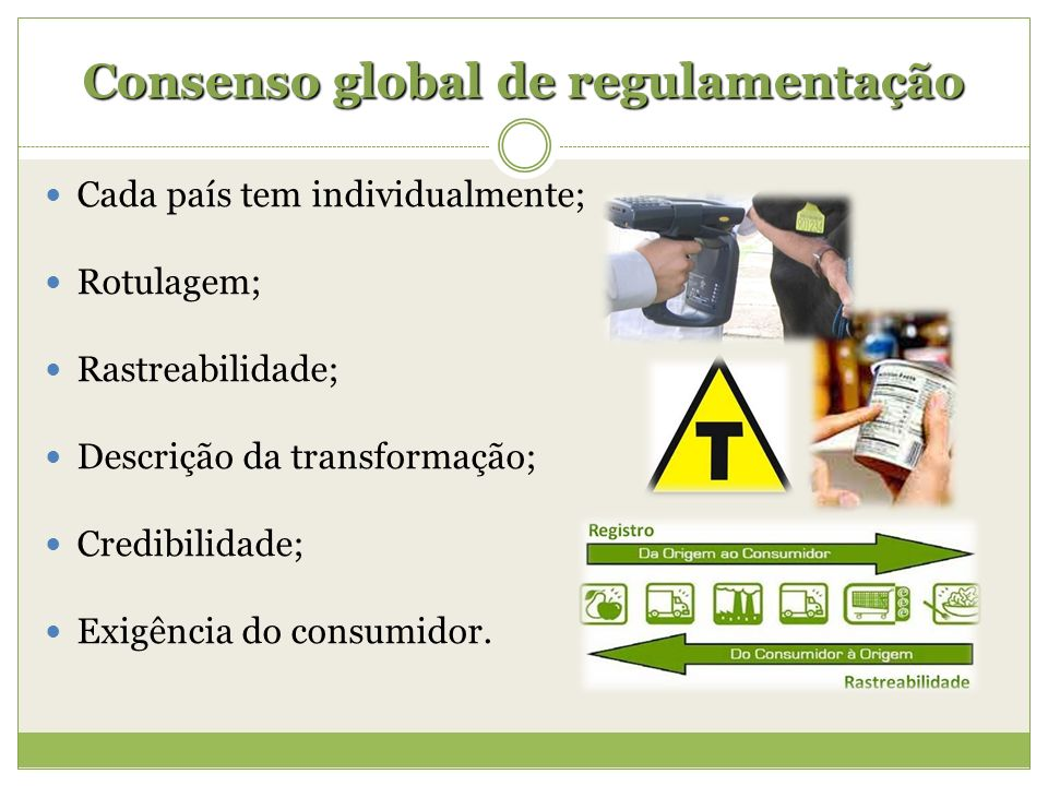 Consenso global de regulamentação