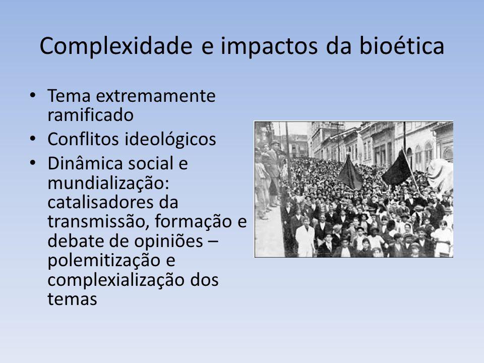 Complexidade e impactos da bioética