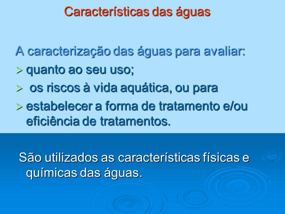 Características das águas