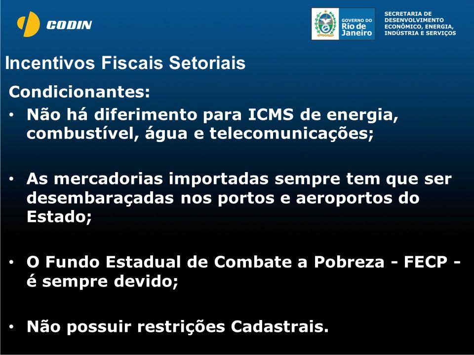 Incentivos Fiscais Setoriais