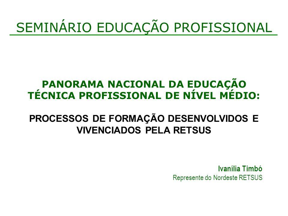 SEMINÁRIO EDUCAÇÃO PROFISSIONAL