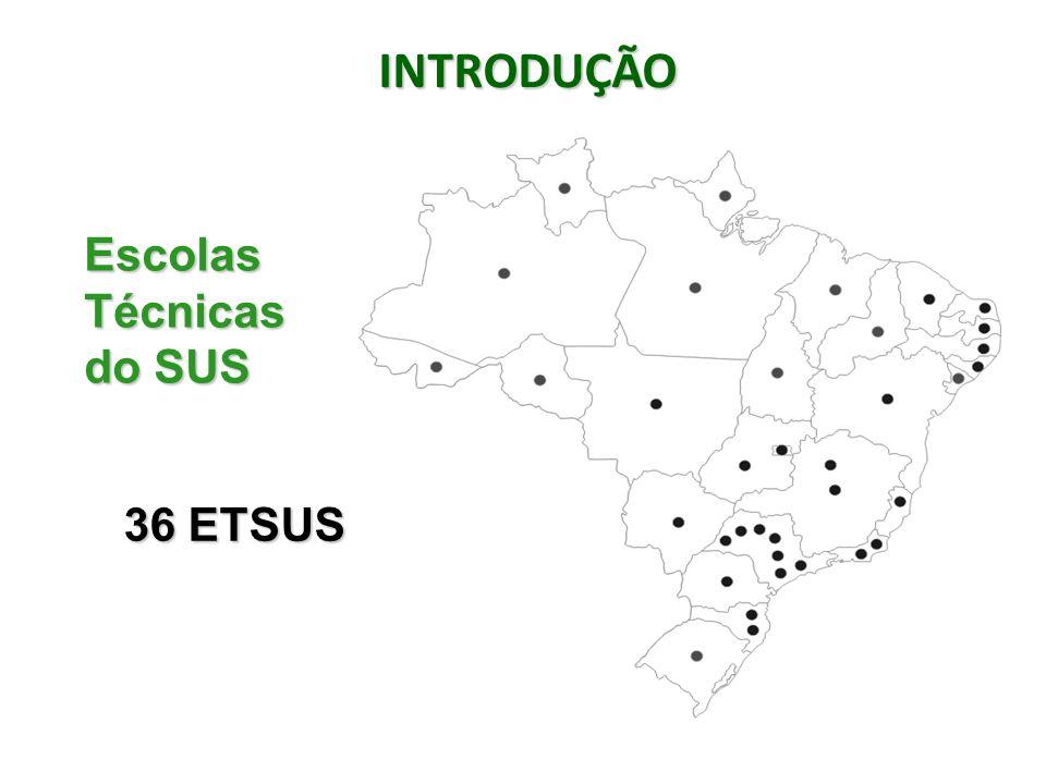 INTRODUÇÃO Escolas Técnicas do SUS 36 ETSUS
