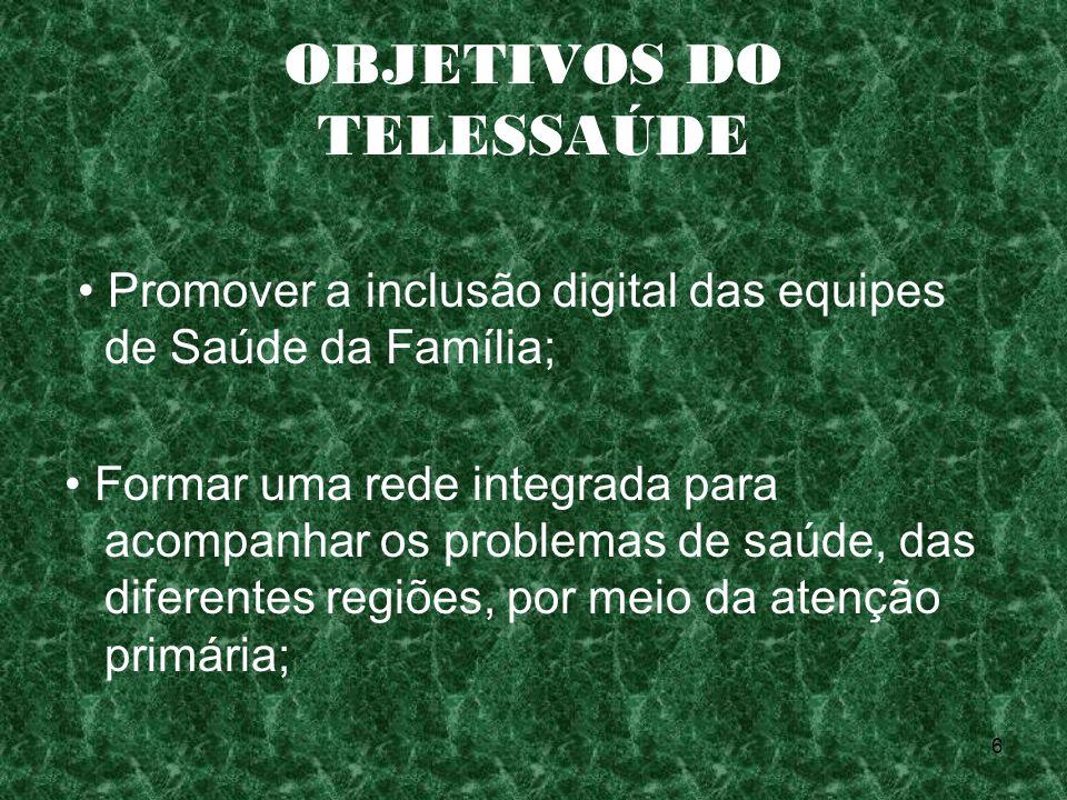 OBJETIVOS DO TELESSAÚDE