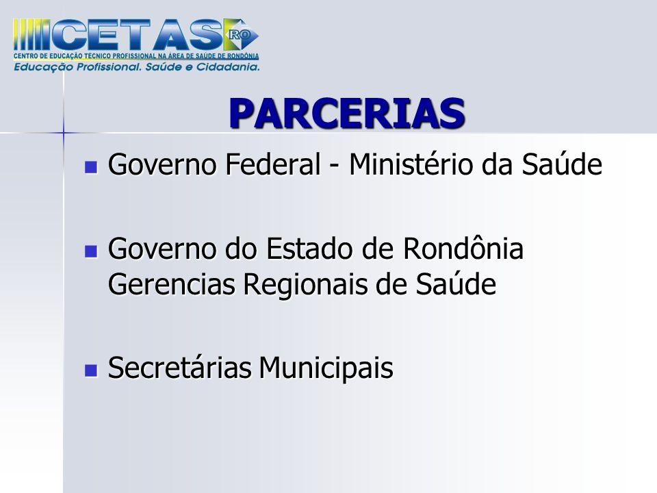 PARCERIAS Governo Federal - Ministério da Saúde
