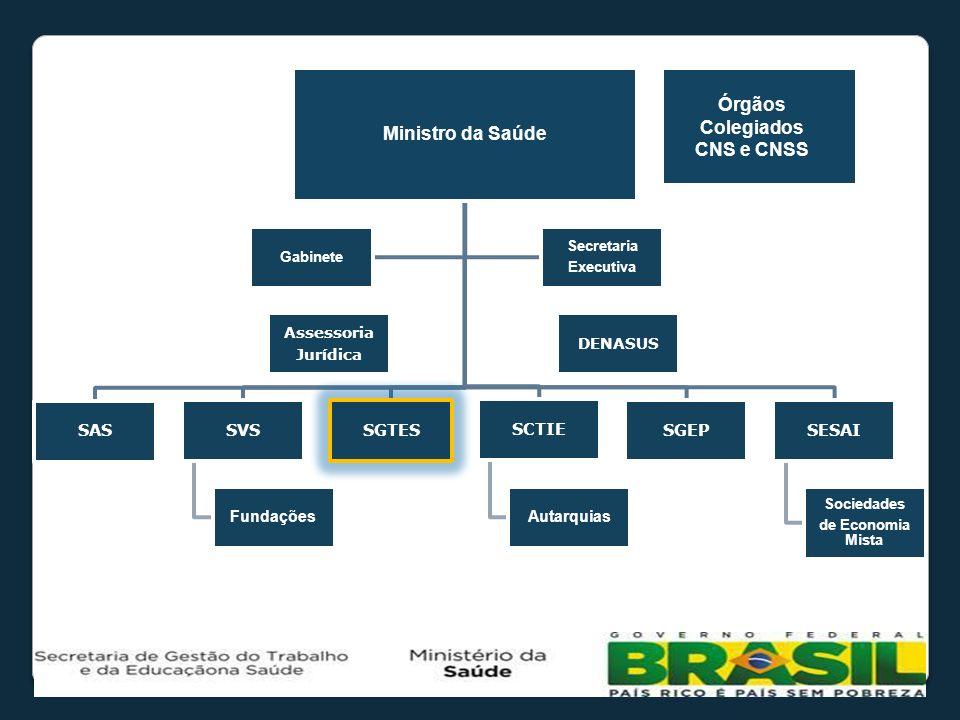 Ministro da Saúde Órgãos Colegiados CNS e CNSS