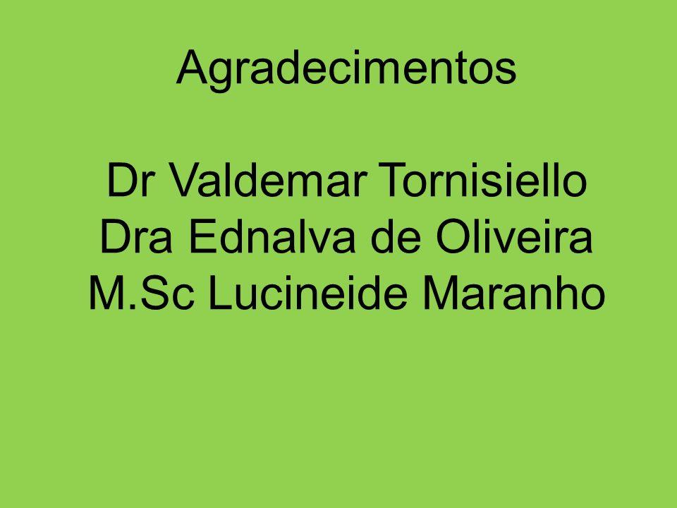 Dr Valdemar Tornisiello Dra Ednalva de Oliveira M.Sc Lucineide Maranho