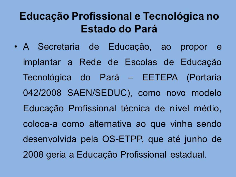 Educação Profissional e Tecnológica no Estado do Pará