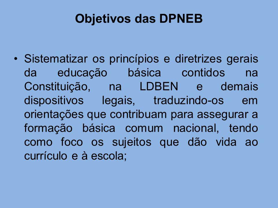 Objetivos das DPNEB
