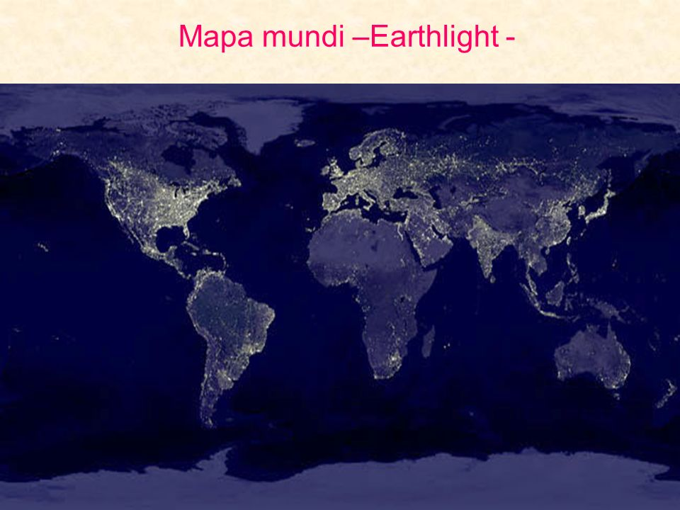 Mapa mundi –Earthlight -