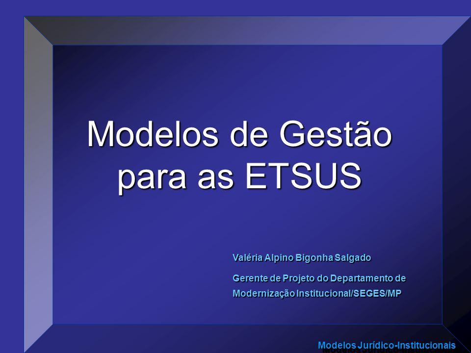 Modelos de Gestão para as ETSUS