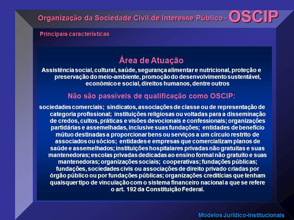 Não são passíveis de qualificação como OSCIP: