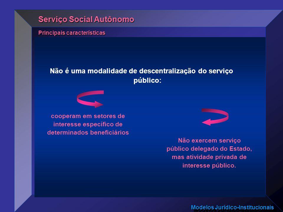 Não é uma modalidade de descentralização do serviço público: