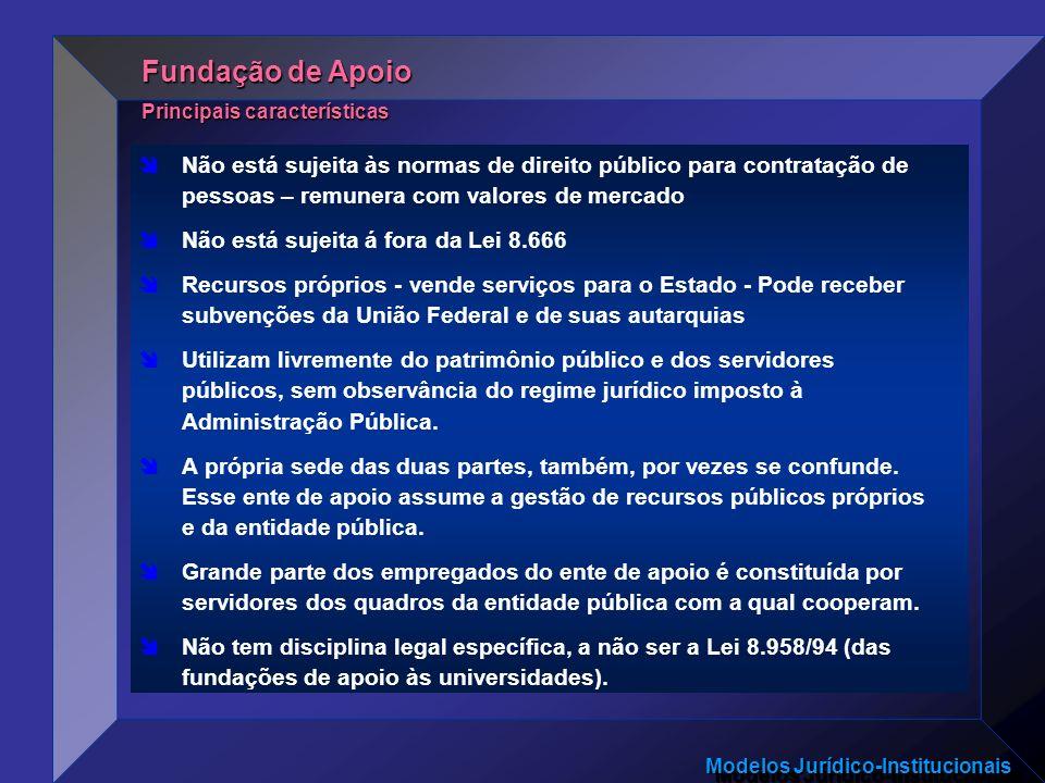 Fundação de Apoio Principais características.