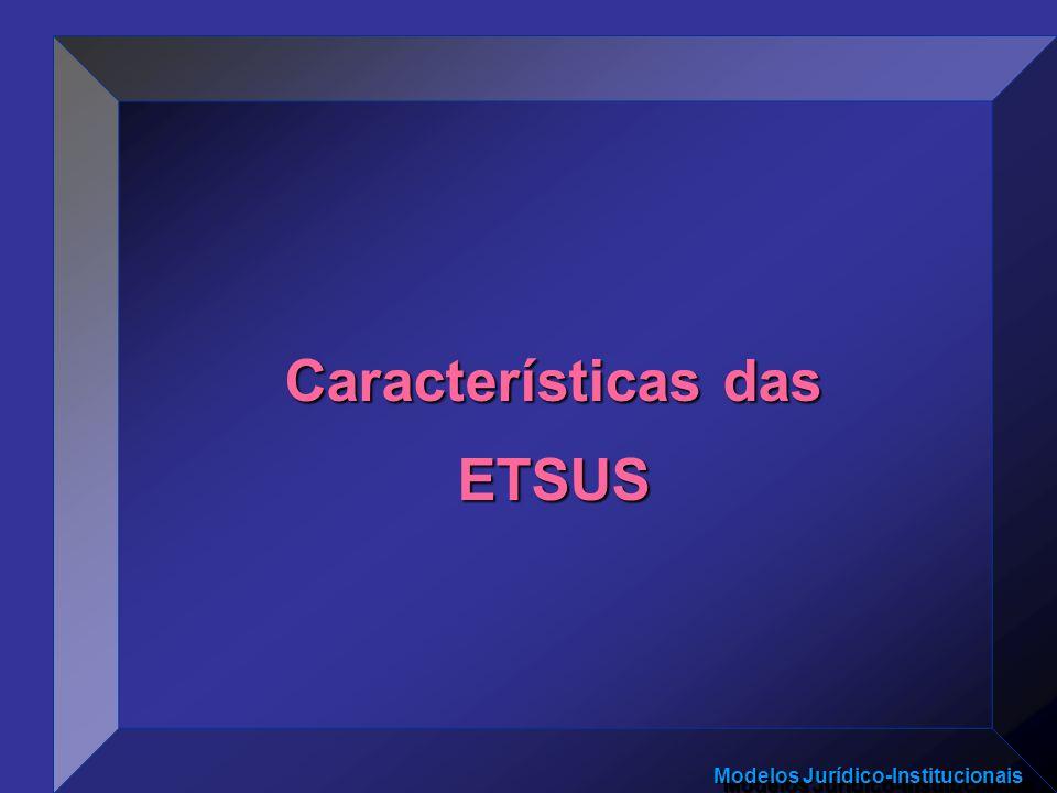 Características das ETSUS
