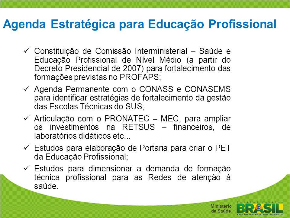 Agenda Estratégica para Educação Profissional