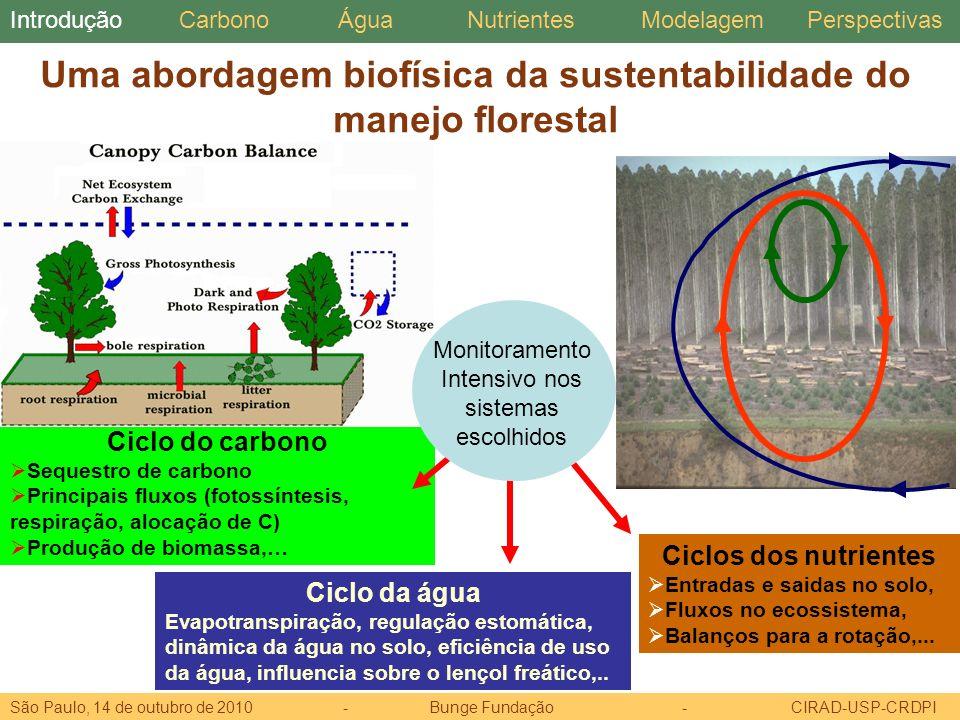 Uma abordagem biofísica da sustentabilidade do manejo florestal