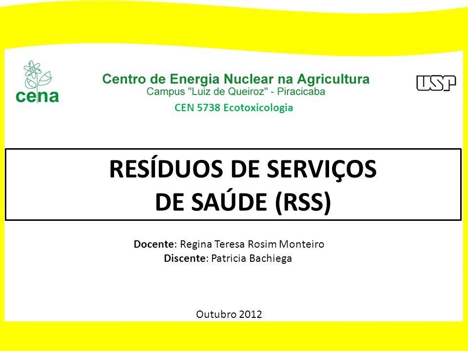 RESÍDUOS DE SERVIÇOS DE SAÚDE (RSS)