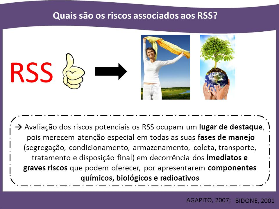 Quais são os riscos associados aos RSS