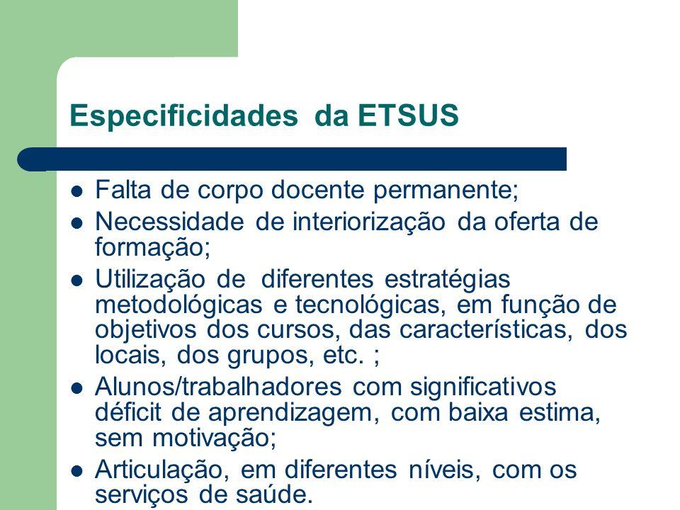 Especificidades da ETSUS