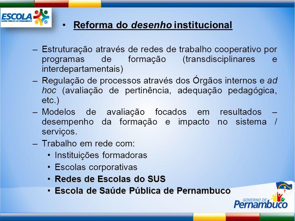Reforma do desenho institucional