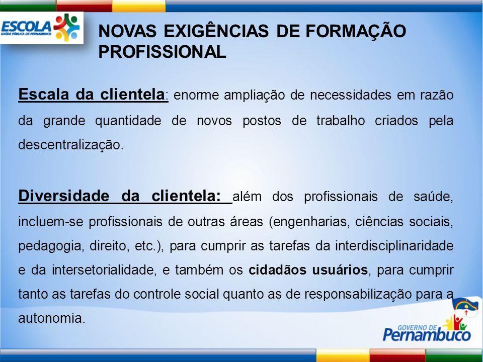 NOVAS EXIGÊNCIAS DE FORMAÇÃO PROFISSIONAL
