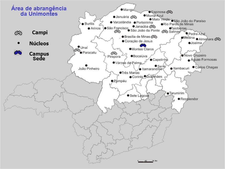 Área de abrangência da Unimontes