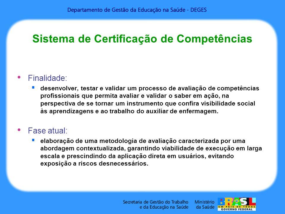 Sistema de Certificação de Competências