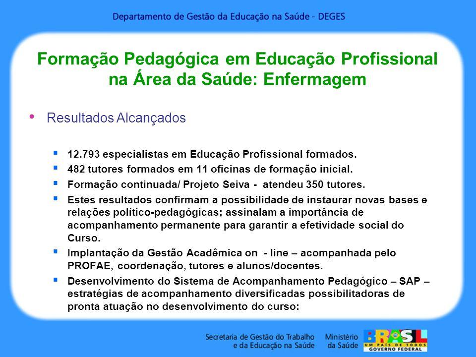 Formação Pedagógica em Educação Profissional na Área da Saúde: Enfermagem
