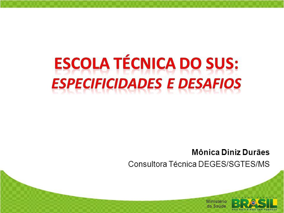 Mônica Diniz Durães Consultora Técnica DEGES/SGTES/MS