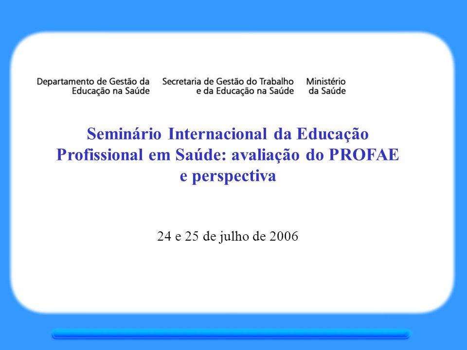 Seminário Internacional da Educação Profissional em Saúde: avaliação do PROFAE e perspectiva