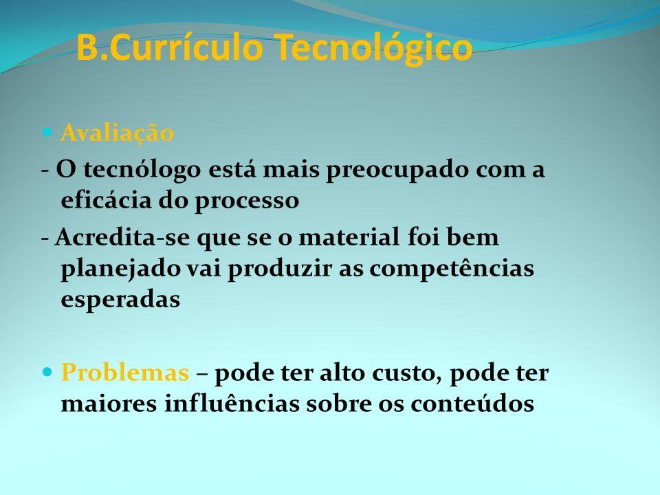 B.Currículo Tecnológico
