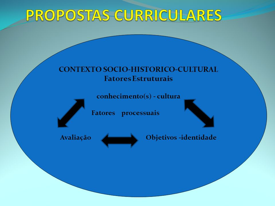 PROPOSTAS CURRICULARES