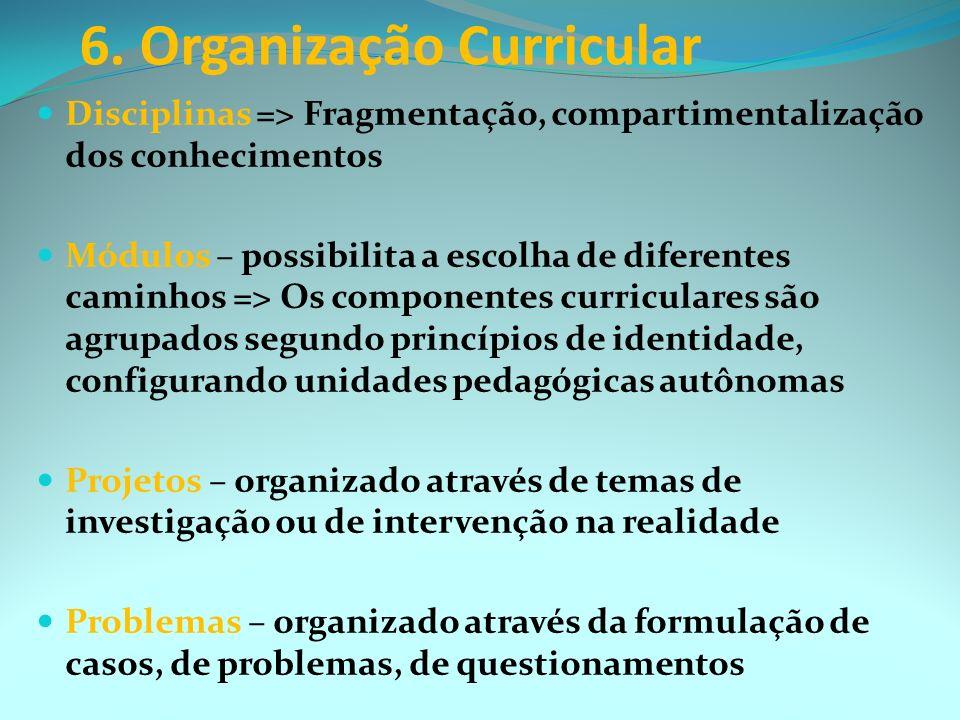 6. Organização Curricular