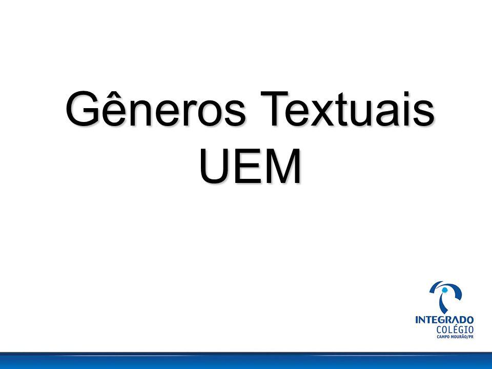 Gêneros Textuais UEM