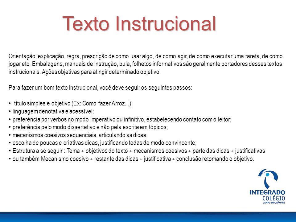 Texto Instrucional