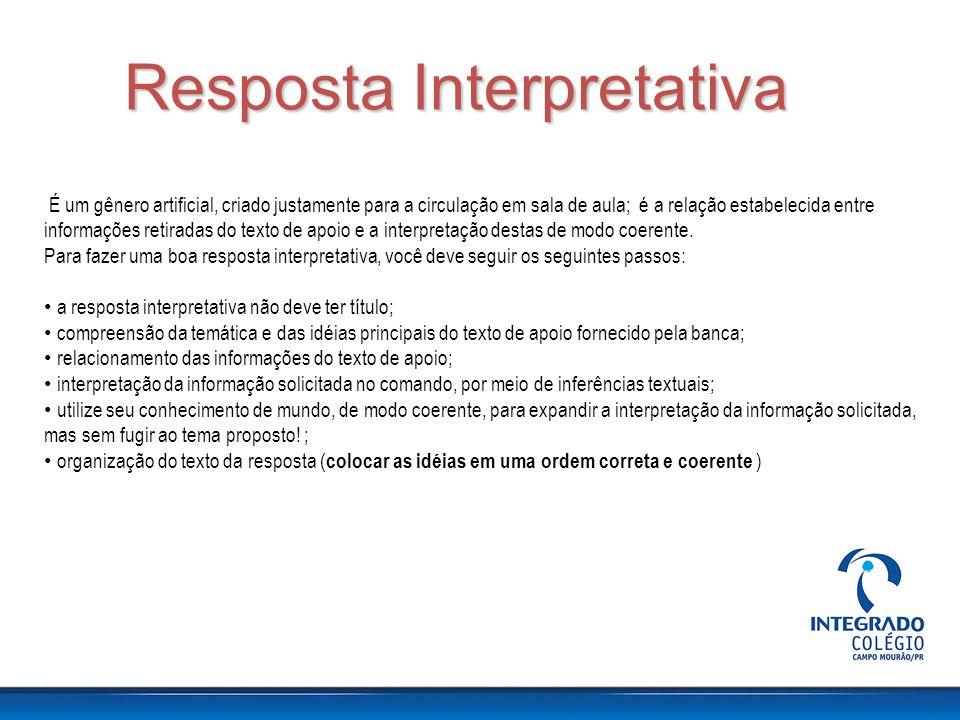 Resposta Interpretativa