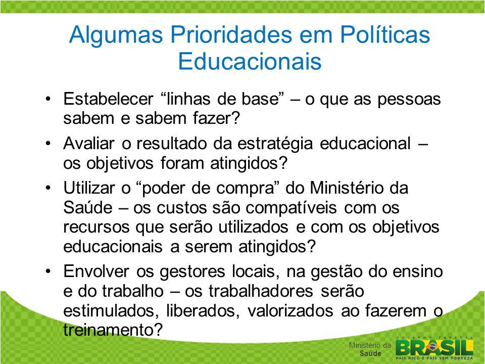 Algumas Prioridades em Políticas Educacionais