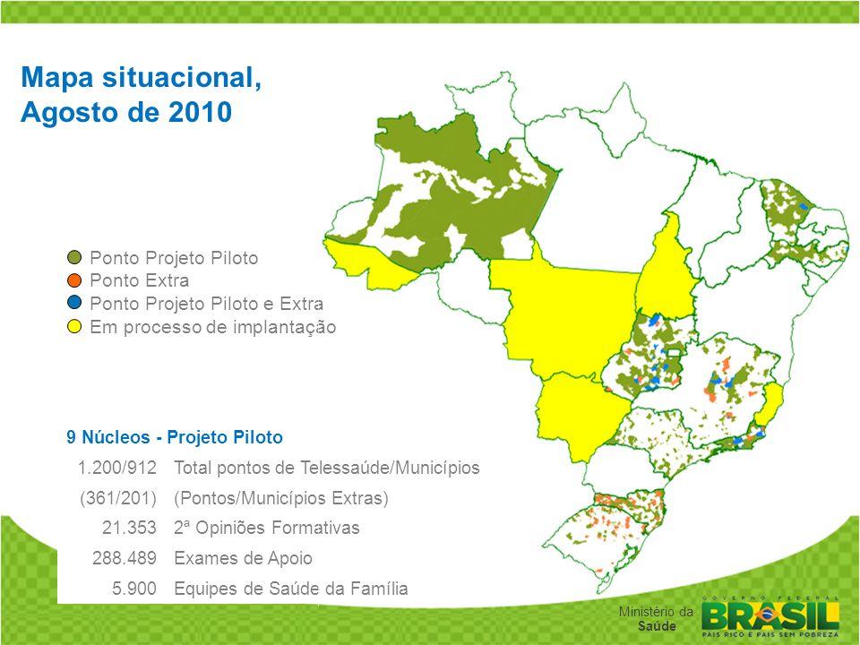 Mapa situacional, Agosto de 2010