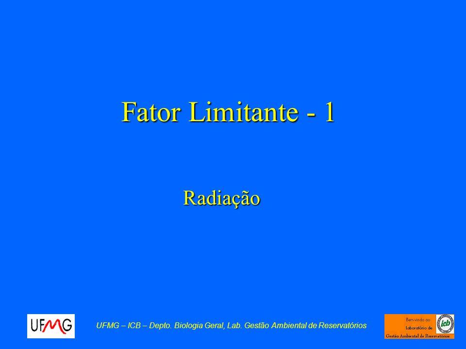 Fator Limitante - 1 Radiação