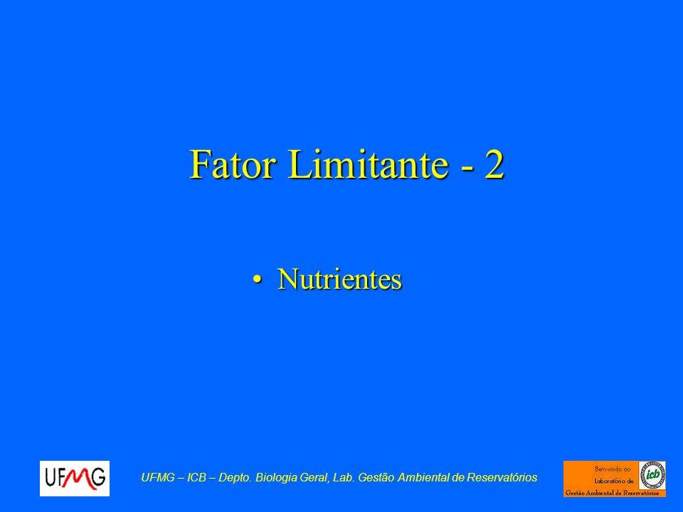 Fator Limitante - 2 Nutrientes